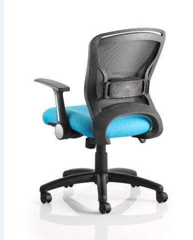 Taurus Mesh Chair Rear View Blue Seat