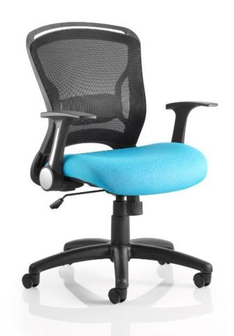 Taurus Mesh Chair With A Light Blue Seat