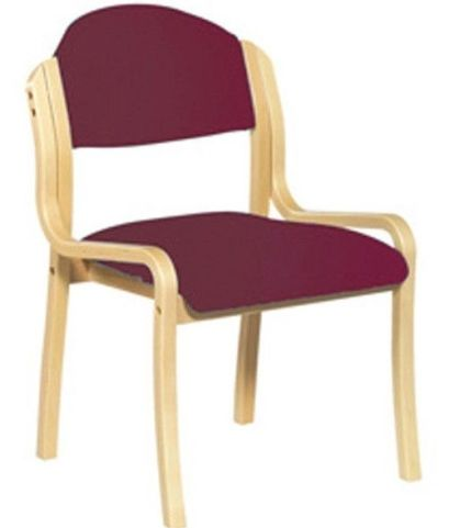 Westfield Wooden Side Chair Red Fabric