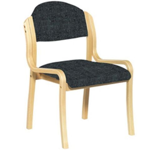 Westfield Wooden Side Chair Black Fabric