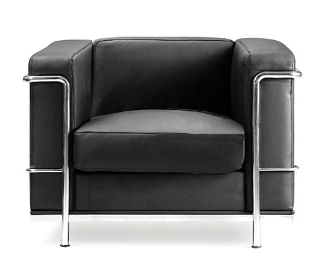 Corbusier Singtle Seater Black Face Shot