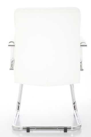 Majestic White Leather Visitors Chair