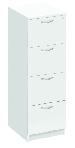 Draycott Four Drawer Filing Cabinet In White