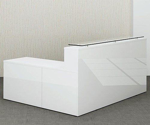 Gloss White Reception Desk Glossy Office Reality