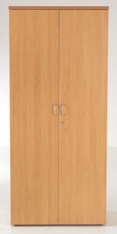 Flite Tall Double Door Cupboard In Beech