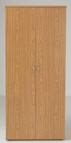 Flite Tall Fouble Door Cupboard In Oak Front Face