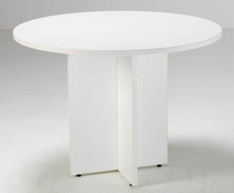 Flite White Circular Conference Table
