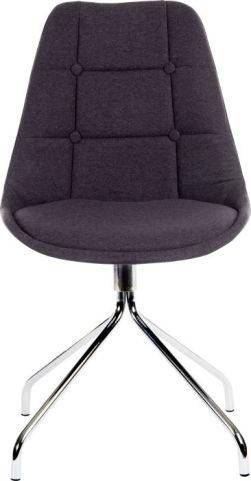 Hatton Designer Chair Charcoal Fabric