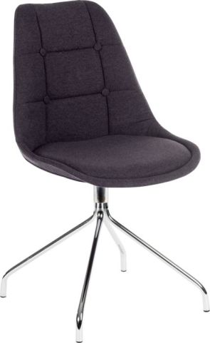 Hatton Designer Chair Chargoal Fabric 2