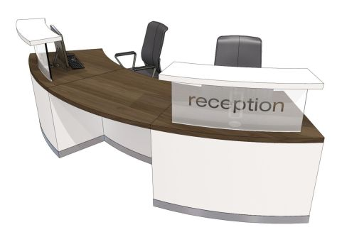 Two Person Curved Reception Desk Evo Class Office Reality