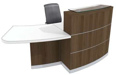 Evi Eclipse Reception Desk With Right Hand Wheelchair Access