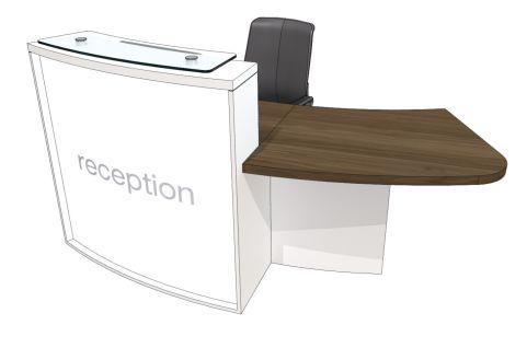 Curved Reception Desk Evo Lite Left Office Reality