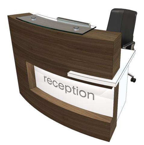 Evo Xpression Curved Compact Reception Desk