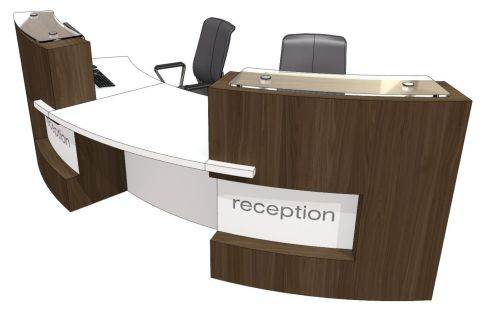 Two Person Curved Reception Desk Evo Xpression Office Reality
