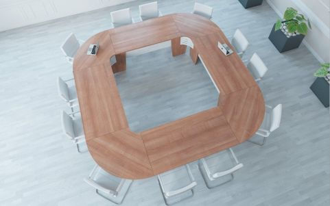 Select Modular Square Table Overhead View