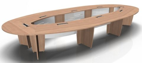Modular Elliptical Conference Table Biarritz Office Reality - Elliptical conference table