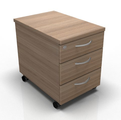 Kessel Three Drawer Mobile Pedestal Drawers In Birch
