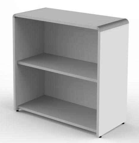 Lunar Low Bookcase In Grey