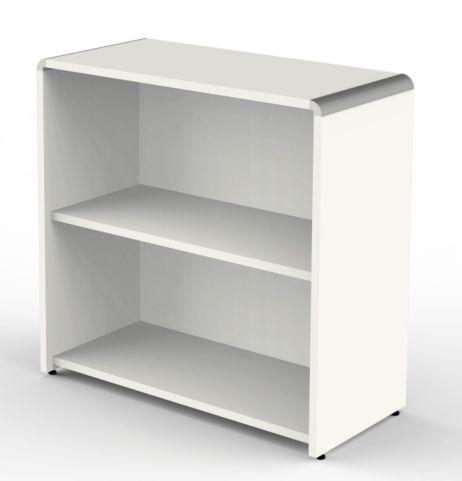 Luna Low Bookcase In White