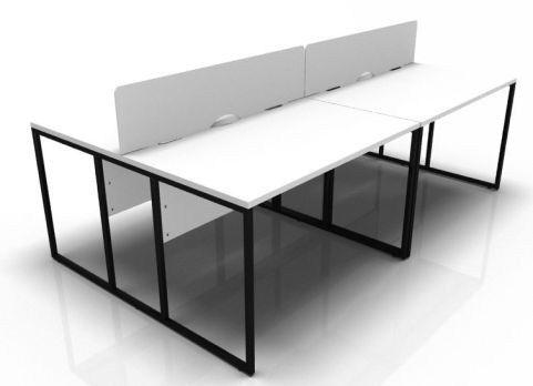 Factory Four Way Cluster With White Top And Black Frame And Screen