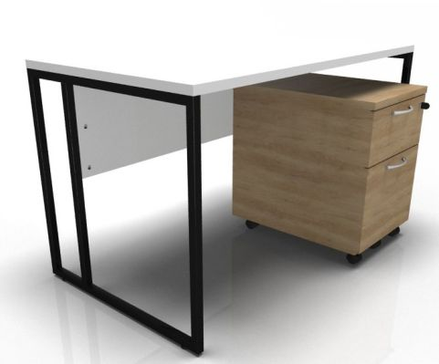 Factory Single Desk And Pedestal