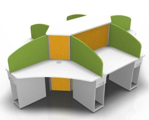 Centrix Six Person Call Centtre Cluster With Green And Orange Screens