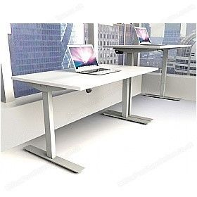Daycott Heigt Adjuustable Sit Stand Desk White Top