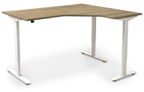 Avalon Right Hand Sit Stand Corner Desk