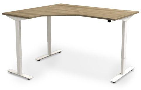 Avalon Left Hand Sit Stand Corner Desk