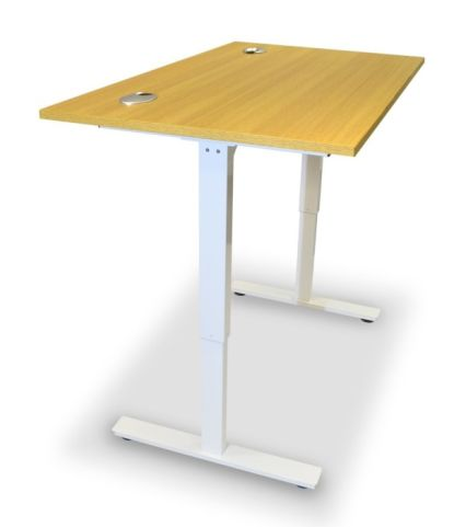 Aztec Sit Stand Desk With A Beech Top
