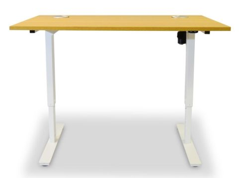 Aztec Sit Stand Desk With A Beech Top 2