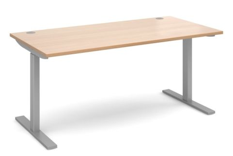 Hi Rise Sit Stand Desk With A Beech Top