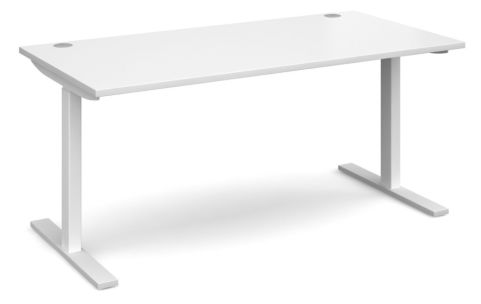 Hi Rise Sit Stamd Desk White Top And Frame