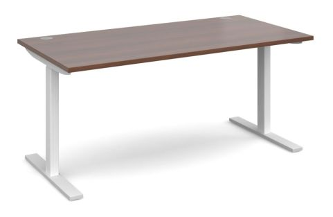 Hi Rise Sit Stand Desk With A Walnut Top