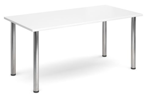 Gm Deluxe Rectangular Meeting Table With A White Topo