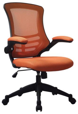 Corky Orange Mesh Task Chair