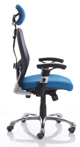 Ergo Star Blue Mesh Chair Side View