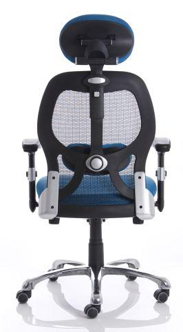 Ergo Star Blue Mesh Chair Rear View