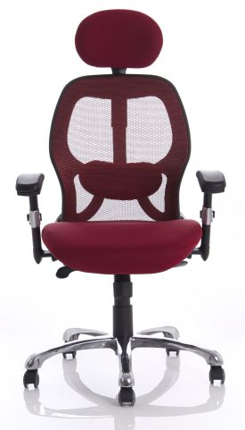 Ergo Star Chair In Red Mesh Front View