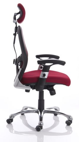 Ergo Star Red Mesh Chair Side View