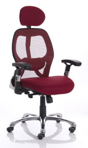Red Ergo Star Chair Front Angle View