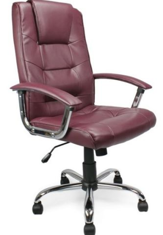 Simerton Leather Chairs Burgundy Leather