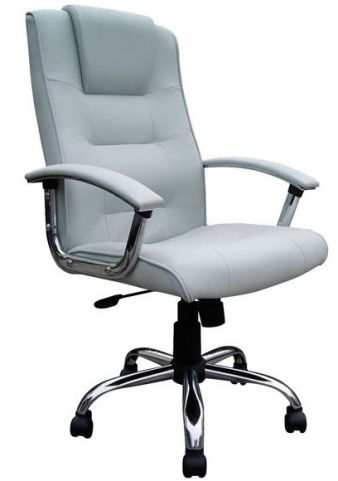 Somerton Leather Chaire Silver Leather