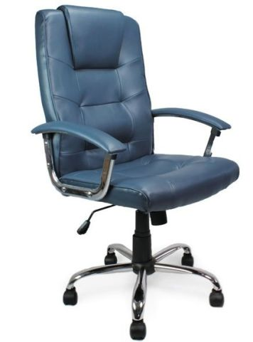 Somerton Leather Chairs Blue Leather