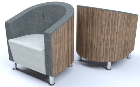 Beano Contract Tub Chairs With A Wood Effect Back