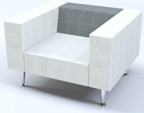 box style single seater sofa hugo office reality. Black Bedroom Furniture Sets. Home Design Ideas