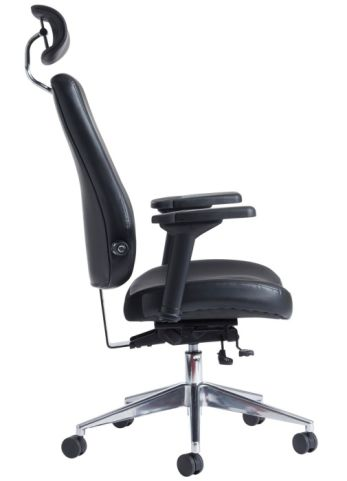 office chair side.  Office Hover To Zoom Kamen Black Leather Ergonomic Task Chair Side View And Office
