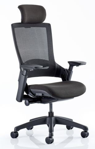 Lotus Task Chair With An Black Fabric Seat Front Angle