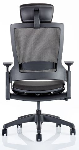 Lotus Task Chair With A Headrest And Upholstered Seat Rear View