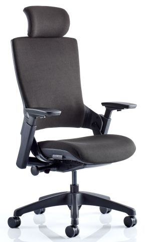 Lotus Fabric Executive Chair With Headresr Front Angle